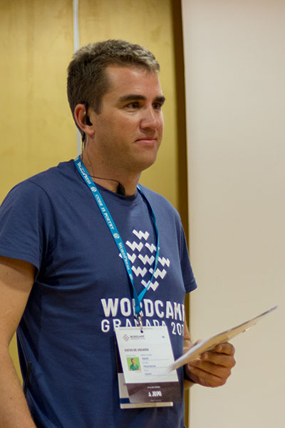 David Pérez en la WordCamp Granada