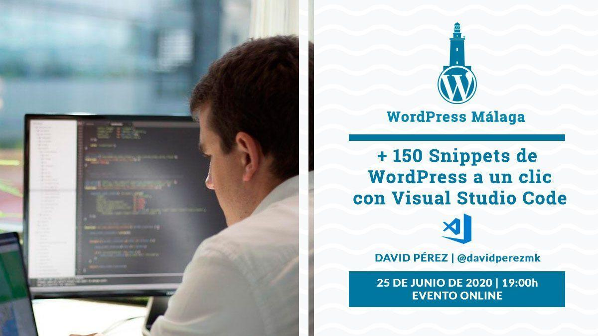 charla 150 snippets visualcode wordpress