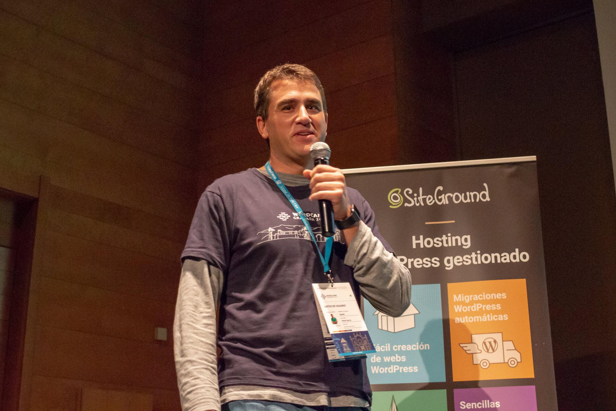 David en WordCamp Granada 2019